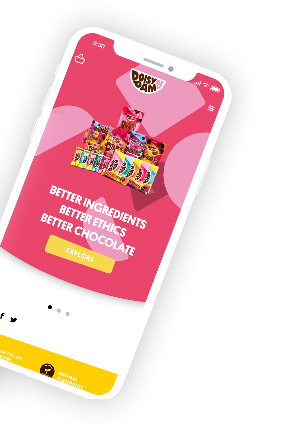 doisy and dam mobile shopify web design